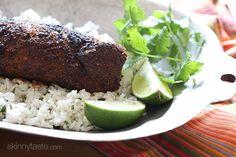 Mexican Adobo Rubbed Grilled Pork Tenderloin | Skinnytaste