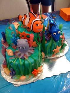 """Just keep swimming"" Nemo cake"
