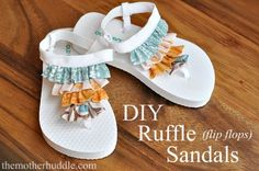 Make Ruffle Flip Flops
