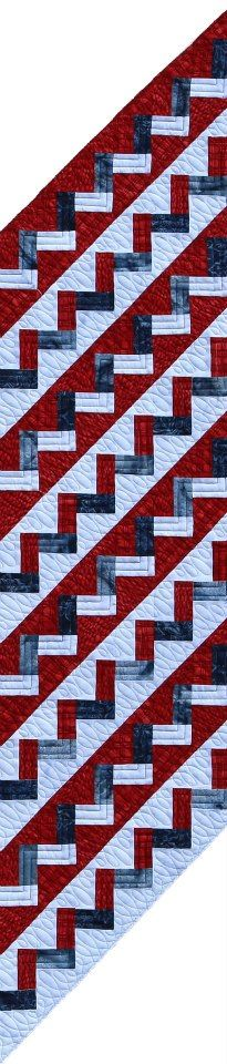 Holiday's Chevron Table Runner ~ 4th of July! To be published this summer!