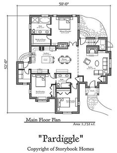 Home fairy tale cottages on pinterest Storybook cottages floor plans