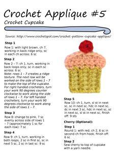 crochet cupcake pattern