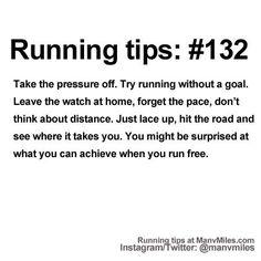 Running tip running tips, the road