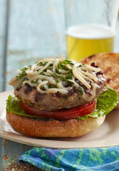 Italian Sausage Burgers — Italian sausage and ground beef are combined with an egg and a blend of cheeses to make these superb grilled burgers.