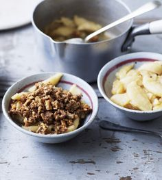The apples and the nutty topping are cooked separately in Mary Berry's unusual crumble, producing an exceptional crunch