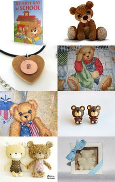 Teddy bears! They're adorable. --Pinned with TreasuryPin.com