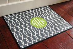 LOVE this monogrammed doormat!   I'll surely be ordering a few of these for Christmas!