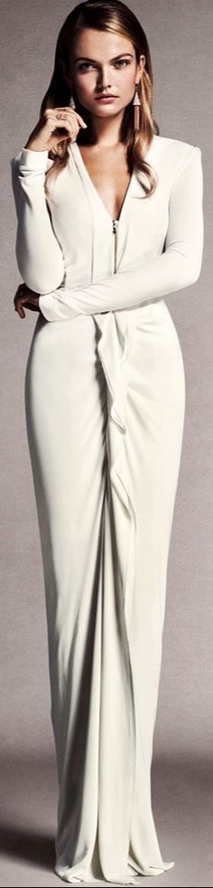 Roland Mouret sexy white evening gown