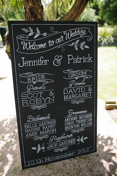 Jen and Patrick's Beautiful Ballarat Wedding - blackboard wedding program by Blackboard Artworx
