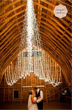 wedding string lights #weddingstringlights #weddinglighting we ♥ this! moncheribridals.com