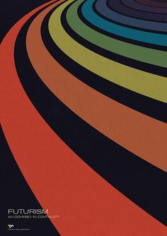 Futurism - An Odyssey in Continuity #simon #page #grafica #poster #geometrico #vintage #futurismo #pattern