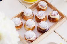 Treat yourself to delicious Semlor (white bun filled with cream and almond paste) in Sweden to celebate Fettisdagen. #kikkiK www.kikki-k.com