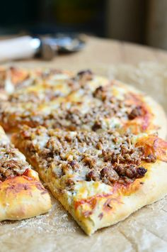 Homemade Lasagna Pizza | from willcookforsmiles.com