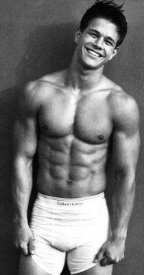 Mark Wahlburg. thank you calvin klein!!! ahhg his smile...