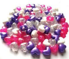 Rainbow Creations Heart Shaped Pony Beads