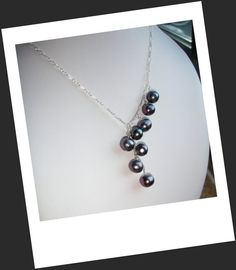 Cascade of Pearls  Peacock Pearls necklace with  by Peelirohini, $37.00