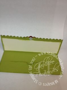 Stampin Up! Christmas Gift Card Wallet (inside)