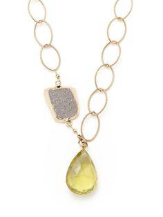 Alanna Bess Jewelry Jasper & Whiskey Citrine Necklace
