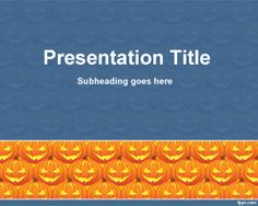 This is a free Halloween Cucurbit PowerPoint template to celebrate Halloween events