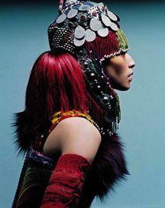 ethnic, beauti cultur, color, andrea klarin, headdress, fashion editorials, fashion photographi, tribal, hat