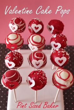Pint Sized Baker: Valentines Cake Pops #Wilton Sugar Sheet Hearts #fun #holiday #red