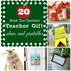 "Not the traditional apple. 20 ""Meet The Teacher"" Teacher Gift Ideas & Printables"