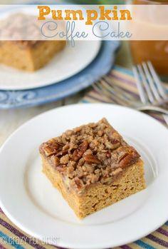 Pumpkin Coffee Cake | crazyforcrust.com | #pumpkin #breakfast #brunch