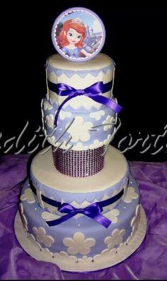 "Torta decorada con fondant ""Princesa Sofia"""