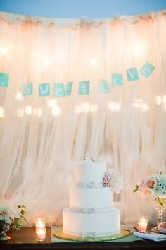 background for cake table.