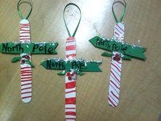 Cute North Pole ornaments!