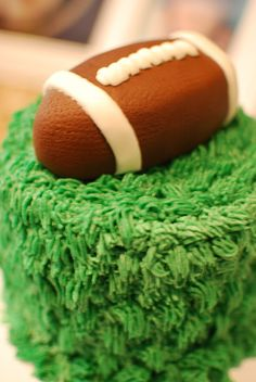 first birthday smash cake, football party