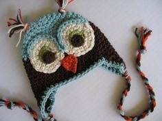 owl hand, animal hats, colors, crochet, craft idea, babi, knit hats, owl hat, owls