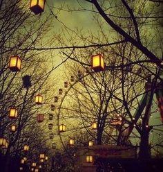 Circus lights.