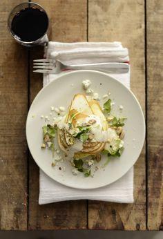 ENSALADA DE PERAS Y ROQUEFORT (Pear Roquefort Salad) #recetas #recipes