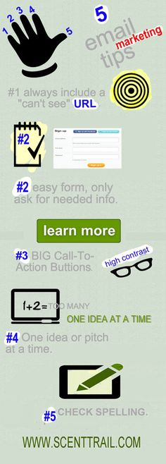 5 Email Tips via @Martin (Marty) Smith [infographic]