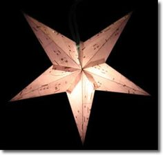 How to Make a Paper Star Lantern-at     Homemade Gifts Made Easy- Includes a paper star template to download.
