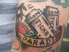 awesome tattoo ticket