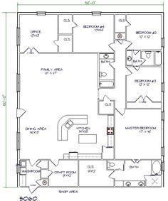 ****LOVE THIS ONE!! Texas Barndominiums, Texas Metal Homes, Texas Steel Homes, Texas Barn Homes, Barndominium Floor Plans