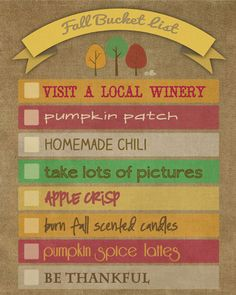 Fall Bucket List and Free #printable.  #fall #bucketlist @livelaughrowe