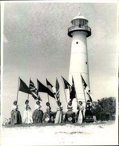1948 Introduction of Eight Flags in Biloxi. My precious mom is one of the ladies with flag.!!!!;)