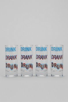 3D Shot Glass - Set Of 4 #urbanoutfitters