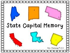 US State Capital Memory Matching Game - 6 Versions