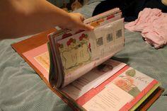 Bridal shower & wedding card scrapbook album