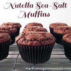 #MuffinMonday : Nutella Sea Salt Muffins - On Sugar Mountain
