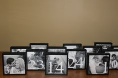 Wedding Table Numbers. Great DIY