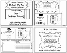 This flip book focuses on doubles. It is a great addition to any lesson. I use them during guided math as openers and during small group time. You ...