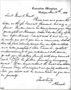 Abraham Lincoln's letter to Mary Todd Lincoln and his sons from Ancestry.com