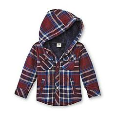 Route 66 Infant & Toddler Boy's Flannel Hoodie Jacket - Plaid - Baby - Baby & Toddler Clothing - Tops
