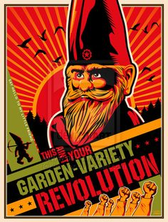graphic, constructivist art, gnome revolut, revolutions, garden varieti, gardenvarieti