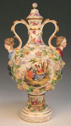 Porcelain vase dresden Germany